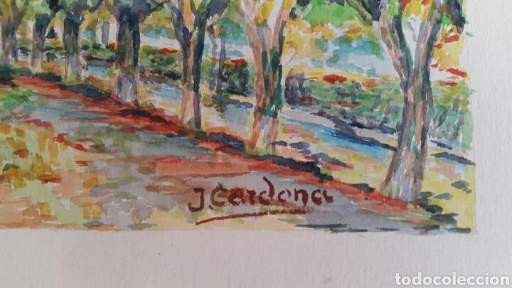 Arte: ACUARELA DE JOAN CARDONA AÑOS 40 - Foto 3 - 97392842