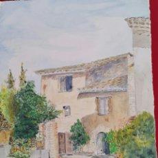 Arte: ACUARELA DE JOAN CARDONA AÑOS 40. Lote 97393428