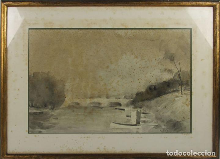 B3-025. ACUARELA SOBRE PAPEL. MIRALLES-TINTORÉ(?). 1937. (Arte - Acuarelas - Contemporáneas siglo XX)
