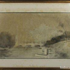 Arte: B3-025. ACUARELA SOBRE PAPEL. MIRALLES-TINTORÉ(?). 1937.. Lote 43863526