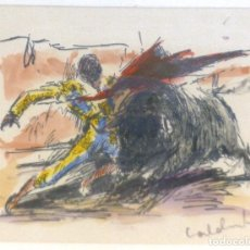 Arte: QUINITO CALDENTY ESCENA TAURINA . Lote 97829762