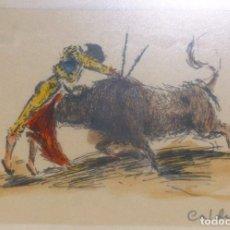 Arte: QUINITO CALDENTEY ESCENA TAURINA . Lote 97829943