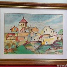 Arte: PRECIOSA ACUARELA FIRMADA GABRIEL. Lote 97911535
