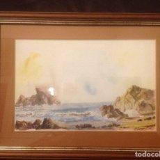 Arte: ACUARELA MARINA CARLOS CORNEJO LOAYZA 1999 26X17. Lote 98042203