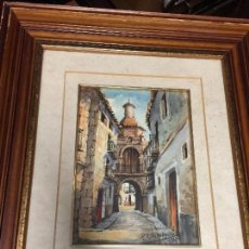 Arte: ACUARELA PINTOR ARAGONES PEDRO PORTERO MARZO. Lote 98218975