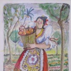 Arte - Pina Nortes. Huertana con naranjas - 139328066