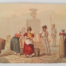 Arte: EXCELENTE ACUARELA ORIGINAL FRANCESA DE FINALES DEL SIGLO XVIII- PRINCIPIOS DEL XIX. Lote 98751507