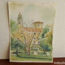 Arte: ACUARELA FIRMADA. SANTIAGO DE COMPOSTELA.. Lote 99088343
