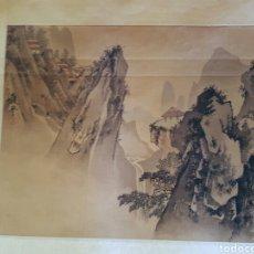 Arte: ESCUELA CHINA S.XX. ,PAISAJE ,TINTA CHINA SOBRE PAPEL XUAN. FIRMADA 24'5 X 30.. Lote 99910118
