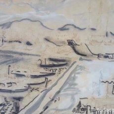 Arte: CARLOS NADAL FARRERAS (1918-1998) - PUERTO. Lote 99986387