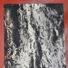Arte: DIBUJO ABSTRACTO A TINTA , SOBRE PAPEL , FIRMADO , ORIGINAL . Lote 100047723