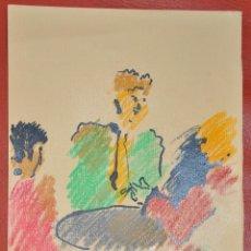 Arte: DIBUJO A CERAS , SOBRE PAPEL , FIRMADO , ORIGINAL . Lote 100047763