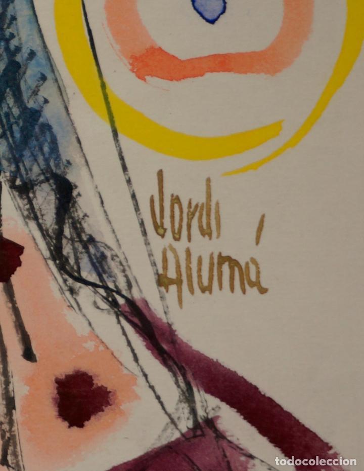 Arte: JORDI ALUMÀ, RETRATO MUJER, ACUARELA. 20x26cm - Foto 2 - 100121859