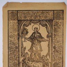 Arte: GRABADO SAN RAMON NONAT, FINALES DEL S. XVIII. 32X43,5CM. Lote 100496491