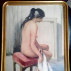 Arte: PINTURA FIGURATIVA(70×50CM) CON DESNUDO FEMENINO DE JOAN TORRABADELL FECHADA Y FIRMADA. Lote 100552879