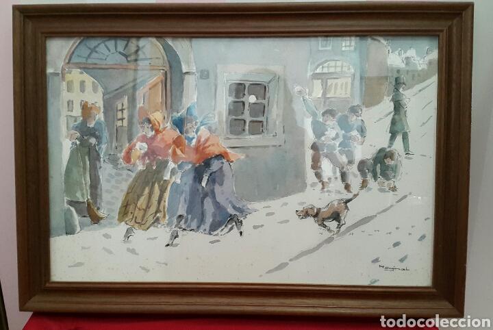 ACUARELA ANDREU RAGINEL FERRET (LYON 1936) (Arte - Acuarelas - Contemporáneas siglo XX)