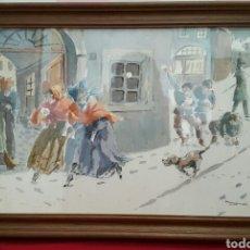 Arte: ACUARELA ANDREU RAGINEL FERRET (LYON 1936). Lote 100765022