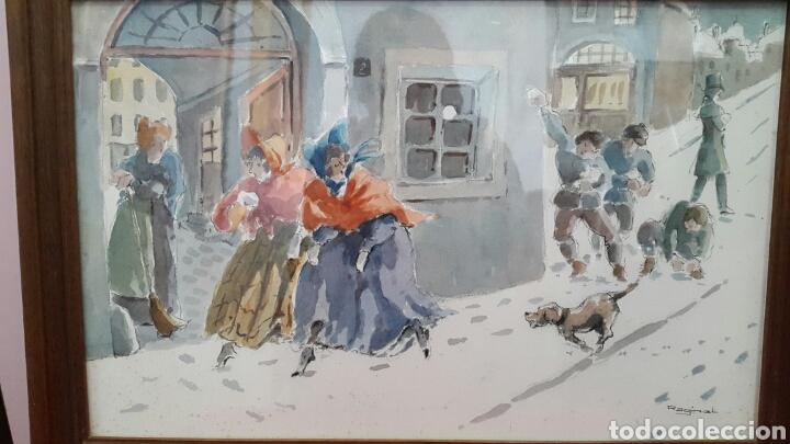 Arte: ACUARELA ANDREU RAGINEL FERRET (LYON 1936) - Foto 5 - 100765022