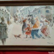 Arte: ACUARELA ANDREU RAGINEL FERRET (LYON 1936). Lote 100765328