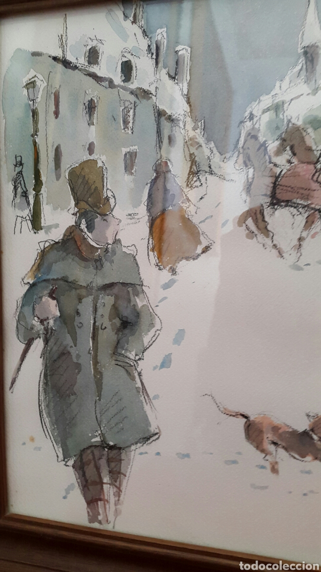 Arte: ACUARELA ANDREU RAGINEL FERRET (LYON 1936) - Foto 4 - 100765328