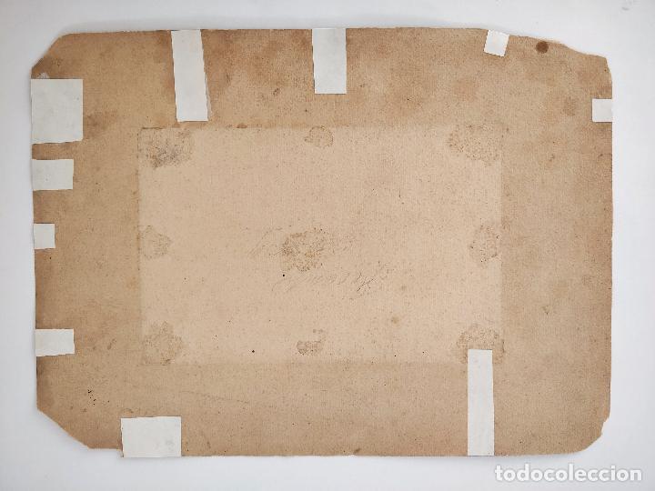 Arte: Maravillosa marina original en acuarela, firmada y fechada 1839, calidad. - Foto 2 - 101349455
