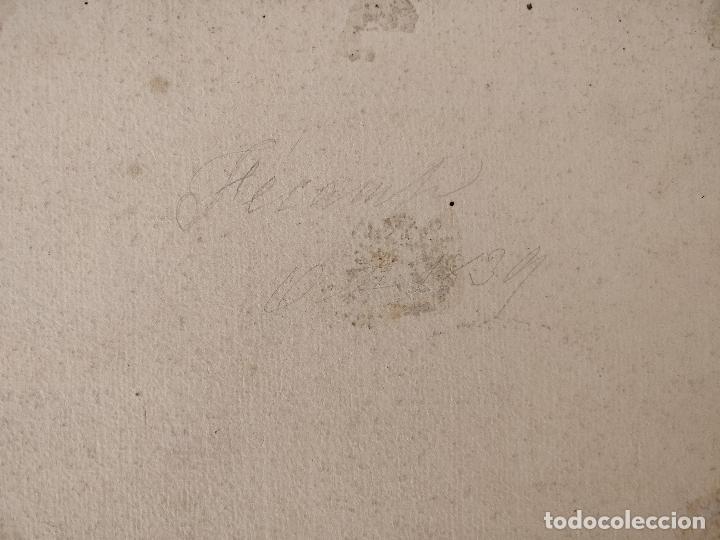 Arte: Maravillosa marina original en acuarela, firmada y fechada 1839, calidad. - Foto 3 - 101349455