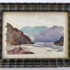 Arte: EXTRAORDINARIO PAISAJE DEL IMPORTANTE Y COTIZADO PINTOR ESCOCES WILLIAM WALLS 1932,CALIDAD FIRMADO. Lote 101358263