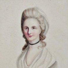 Arte: IMPRESIONANTE ACUARELA DEL SIGLO XVIII, CIRCA 1760, ESCUELA FRANCESA, GRAN CALIDAD. Lote 101361431
