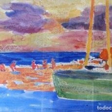 Arte: RAMON SANVISENS MARFULL - ACUARELA. Lote 101447143