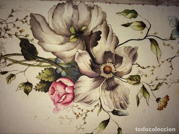 Arte: 5 DIBUJOS PREPARATORIOS PARA PAPEL PINTADO. ACUARELA. ALGUNOS PREMIADOS. ESPAÑA. CIRCA 1787 - Foto 12 - 101529295