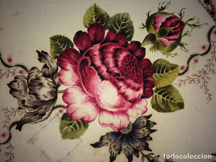 Arte: 5 DIBUJOS PREPARATORIOS PARA PAPEL PINTADO. ACUARELA. ALGUNOS PREMIADOS. ESPAÑA. CIRCA 1787 - Foto 22 - 101529295
