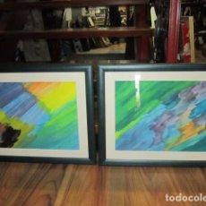 Arte: PAREJA DE ACUARELAS O GOUACHE, ENMARCADAS. MARCO: 59,5 X 47 CMS.. Lote 101614107