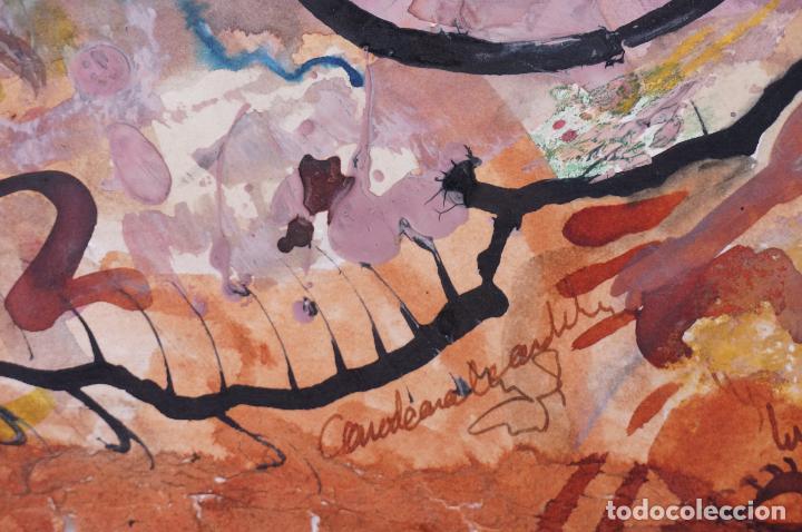 Arte: PINTURA, FIRMA ILEGIBLE, TÉCNICA MIXTA. 50x34cm - Foto 2 - 101615139
