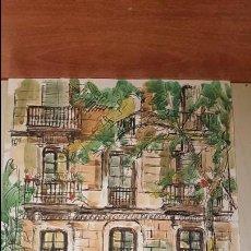 Arte - Preciosa acuarela joan bueno 93.restaurante la flauta.barcelona. - 101684579