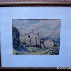 Arte: ACUARELA DE AMADOR VIÑOLAS FELIU.(ARENYS DE MAR, 1915). Lote 101773899