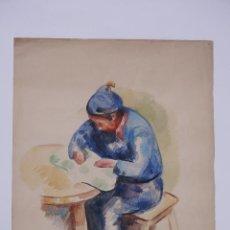 Arte: GUILLEM VILLÀ, 1954, CHILE, ACUARELA. 55X38,5CM. Lote 101838863