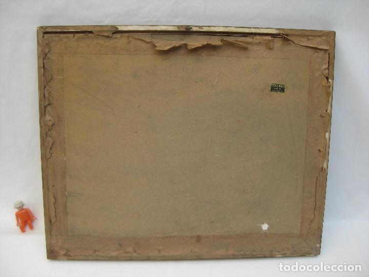 Arte: cuadro pintura antigua Acuarela puerto marina Vázquez Castells Grupo Pont de Fusta Valencia años 60 - Foto 4 - 101939067