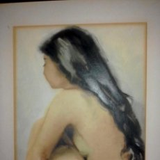Arte: ACUARELA CON DESNUDO FEMENINO DE JOAN TORRABADELL. Lote 101948163