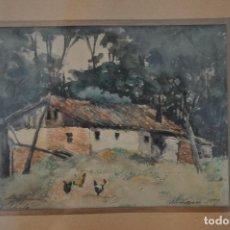 Arte: ÁNGEL AVILÉS Y MERINO , CÓRDOBA , ACUARELA ORIGINAL FIRMADA Y DEDICADA EN 1889 . Lote 101975763
