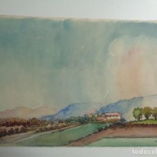 Arte: ACUARELA DE MANLLEU. M.AGUILAR. Lote 102477879