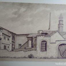 Arte: DIBUJO A TINTA. M.AGUILAR.PASSEIG DEL TER. Lote 102478399