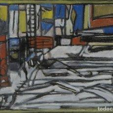 Arte: GOUACHE SOBRE PAPEL COMPOSICIÓN SIGLO XX. Lote 102541583
