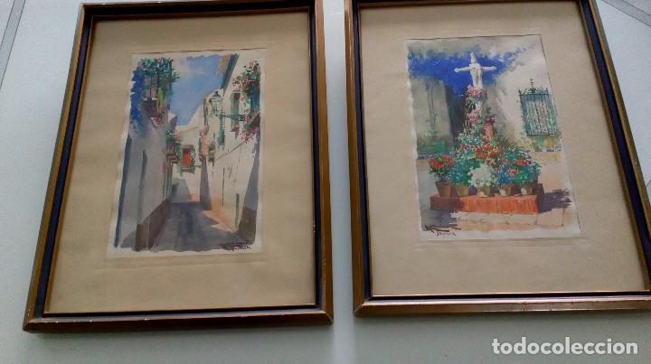PAREJA DE ACUARELAS DE DIEGO MARÍN LÓPEZ (GRANADA 1865-1917) (Arte - Acuarelas - Modernas siglo XIX)