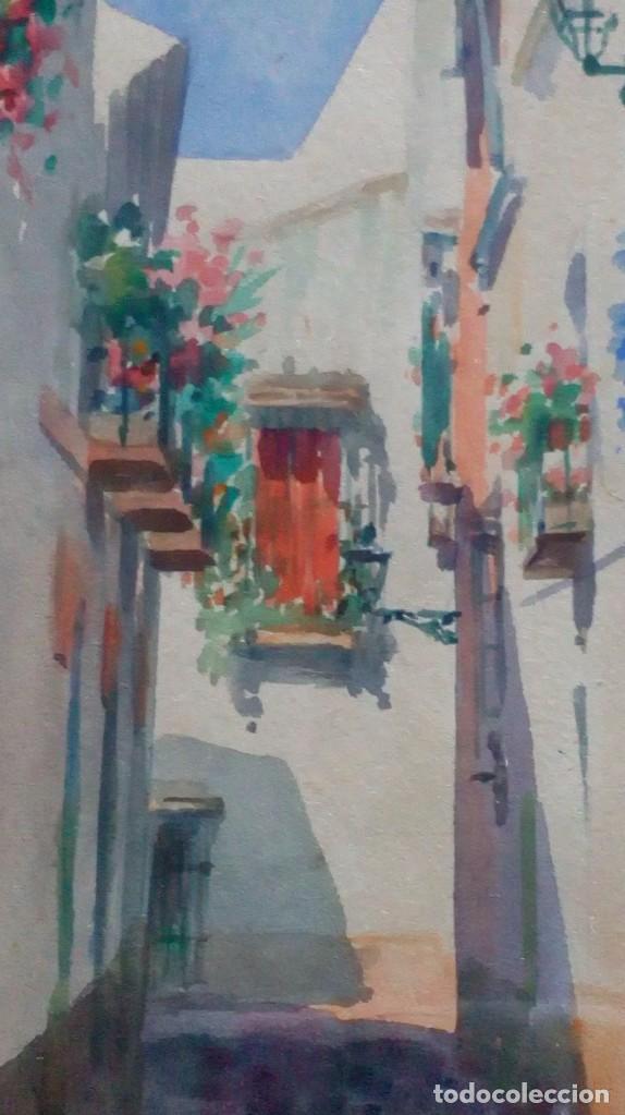 Arte: Pareja de acuarelas de Diego Marín López (Granada 1865-1917) - Foto 3 - 102552523