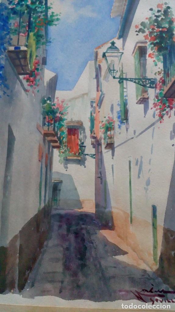 Arte: Pareja de acuarelas de Diego Marín López (Granada 1865-1917) - Foto 4 - 102552523