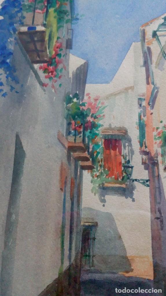 Arte: Pareja de acuarelas de Diego Marín López (Granada 1865-1917) - Foto 7 - 102552523
