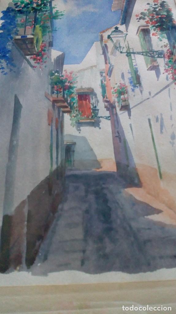 Arte: Pareja de acuarelas de Diego Marín López (Granada 1865-1917) - Foto 8 - 102552523