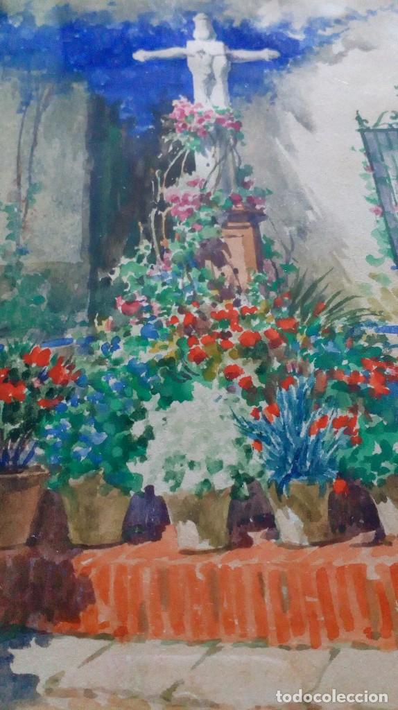 Arte: Pareja de acuarelas de Diego Marín López (Granada 1865-1917) - Foto 9 - 102552523