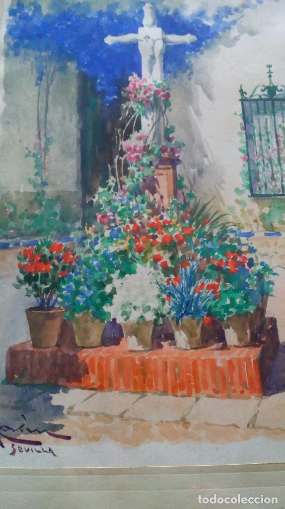 Arte: Pareja de acuarelas de Diego Marín López (Granada 1865-1917) - Foto 11 - 102552523