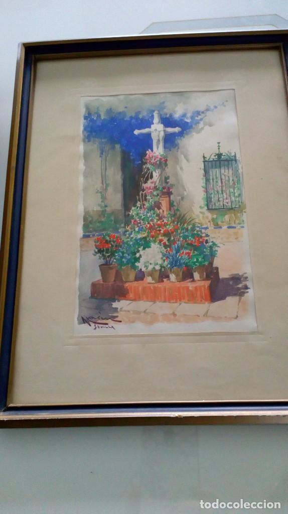 Arte: Pareja de acuarelas de Diego Marín López (Granada 1865-1917) - Foto 12 - 102552523